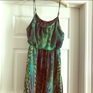 Forever 21 peacock dress.  Size Medium
